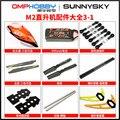 Sunnysky OMPHOBBY M2 Hubschrauber Teile Schwanz propepller motor haube spindel horizontale achse propeller stehen-in Teile & Zubehör aus Spielzeug und Hobbys bei