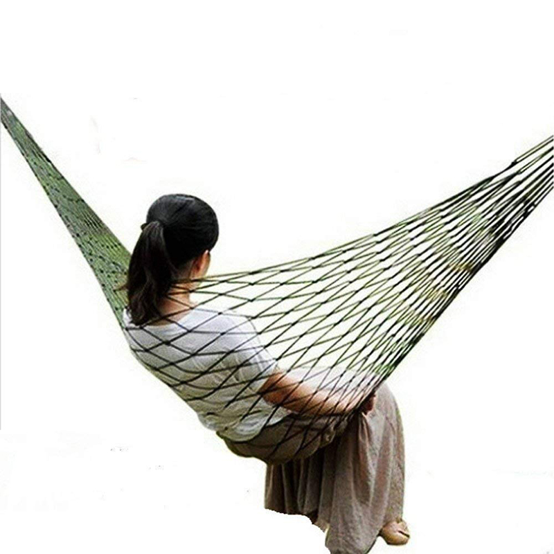 Hammock Hamaca For Outdoor Travel Hamac Garden Hamak Camping Hammock Nylon Hammock Sleeping Bed Hanging Chair Mesh Net Hammock
