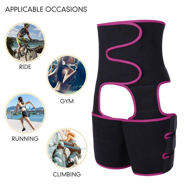 WAIST SECRET Woman Sweat Thigh Trimmers Leg Shaper Fajas Neoprene Slimming Belt Control Panties Fat Burning Wraps Thermo Belt 4