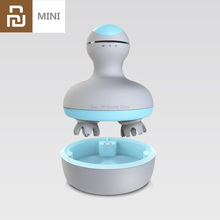 Youpin Mini 3D Head Massager M2 Vier Wiel Rotatie Ontwerp Dual Driectional Cirkel Massage Nat & Droog Dual Gebruik voor Smart Home
