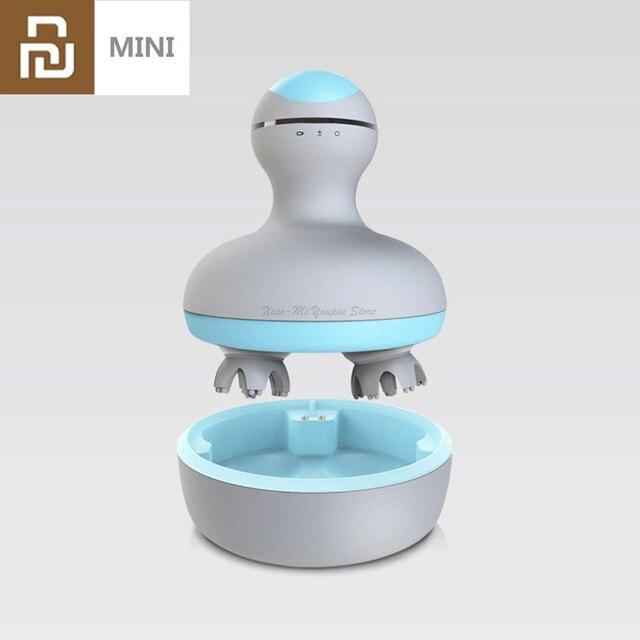 Youpin Mini 3D Testa Massaggiatore M2 A Quattro Ruote di Rotazione Design Dual Driectional Massaggio Cerchio Umido e Secco A Duplice Uso per Smart Home, Casa Intelligente