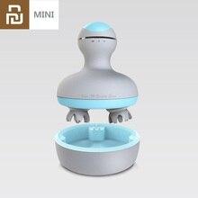 Массажер Youpin Mini 3D для головы, устройство для сухого и влажного массажа, дизайн с четырьмя вращающимися колесами, для умного дома