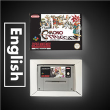 Chrono Trigger EURรุ่นRPGเกมประหยัดแบตเตอรี่ขายปลีกกล่อง