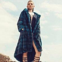 Длинное женское пальто topfur роскошная теплая шуба из натурального