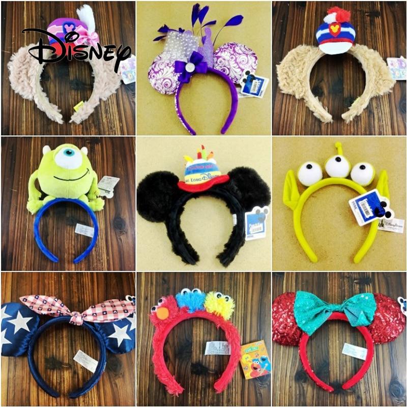 Disney Stuffed Animal Girl Toy Accessories Plush Girls Headwear Hair Bands Creative Cute Party Birthday Gift