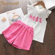 Urso líder crianças terno de inverno rendas camisola roupas da menina saias 2 pçs do bebê outono conjuntos roupas meninas boutique