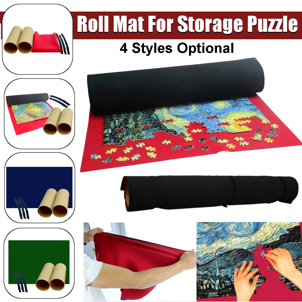 Portable Puzzles Mat Jigsaw Roll Mat  For Storage 1500 Pieces Jigsaw Puzzle Blanket  Accessories Travel Games Waterproof Mat