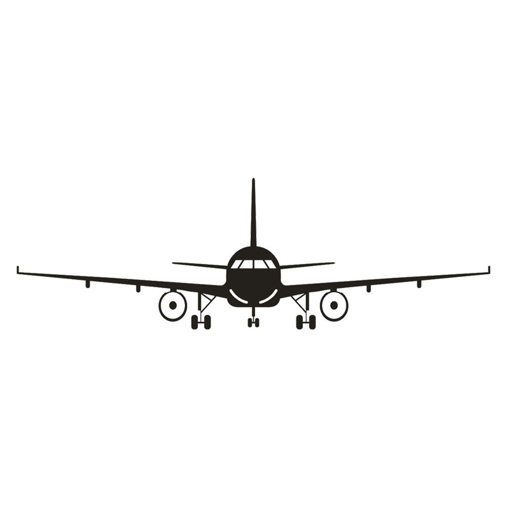 Vivid Airplane Poster Wall Stickers Self-adhesive Vinyl Civil Aircraft Wall Decals Art Indoor Decoration Decal Stickers