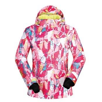 MUTUSNOW Women Ski Jacket Winter Waterproof Windproof Snowboarding Female Winter Sportswear