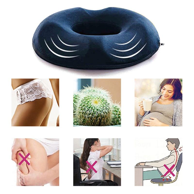 1 PC Anti Hemorrhoid Massage Chair Seat Cushion Hip Push Up Yoga Orthopedic Comfort Foam Tailbone Pillow Car Office Seat Cushion