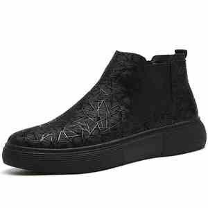 Image 5 - Di modo degli uomini traspirante chelsea scarpe stivali in pelle morbida appartamenti della caviglia della piattaforma botines hombre del progettista di marca bota masculina maschio
