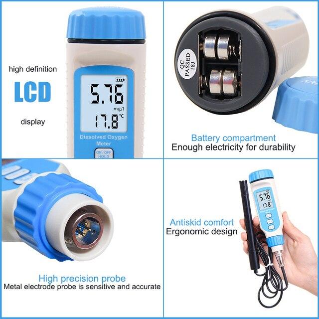 Détecteur doxygène dissous numérique Portable analyseur détang à poissons stylo testeur mètre LAD-vente