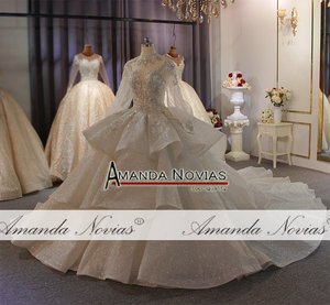 Image 5 - Real Photos Big Ball Gown Wedding Dresses 2020 Lace Wedding Dresses Mariage Bridal Gowns Luxury
