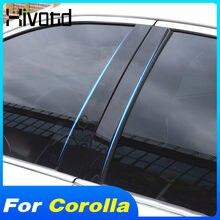 Hivotd Auto Fenster Abdeckung Trim Außen Dekoration Zubehör B C Säule Aufkleber Moulding Teil Für Toyota Corolla Sedan 2019-2021