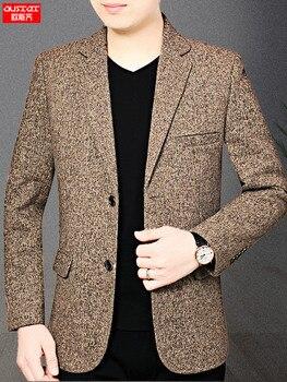 Grey Men Casual Coat Blazer Stylish Slim Fit Mens Formal Jackets Summer Blazer Casual 2020 Terno Masculino Youth Suits JJ60XX