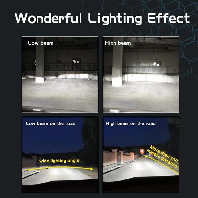 H1 LED H7 LED 20000LM H8 HB3 9005 HB4 H11 Led Headlights Bulbs 9012 HIR2 12sides 80W 3D high power Canbus 360 degree Auto Lamp 3