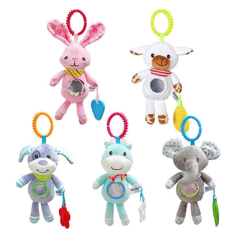 Çocuk oyuncakları asılı Spiral çıngırak arabası sevimli hayvanlar dönence yatak bebek oyuncakları 0-12 ay yenidoğan eğitici oyuncak çocuklar için