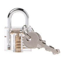 Locksmith Transparent Locks Pick Visible Cutaway Mini Practice View Padlock Hasps Training Skill For Furniture Hardware