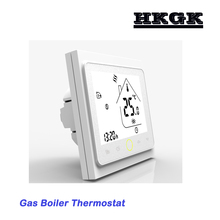 LCD touch screen 220v Gas Boiler Thermostat Switch contact Valve radiator for Dry contact amp Passive contact cheap HESSWAY 002GC 49°C Under Temperature Controller Digital Indoor Charger Embedded 2 0 - 3 9 Inches Acrylic 60mm 220VAC 50 60HZ