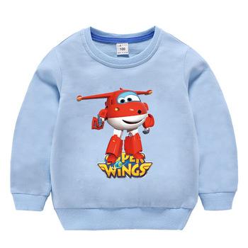 Bluza dziecięca super wings Cartoon modna bawełniana odzież dla dziewczynek pulowerowe topy dla chłopców jesień 2019 maluch miękka odzież tanie i dobre opinie Na co dzień COTTON Pasuje prawda na wymiar weź swój normalny rozmiar Unisex Bluzy Pełna REGULAR