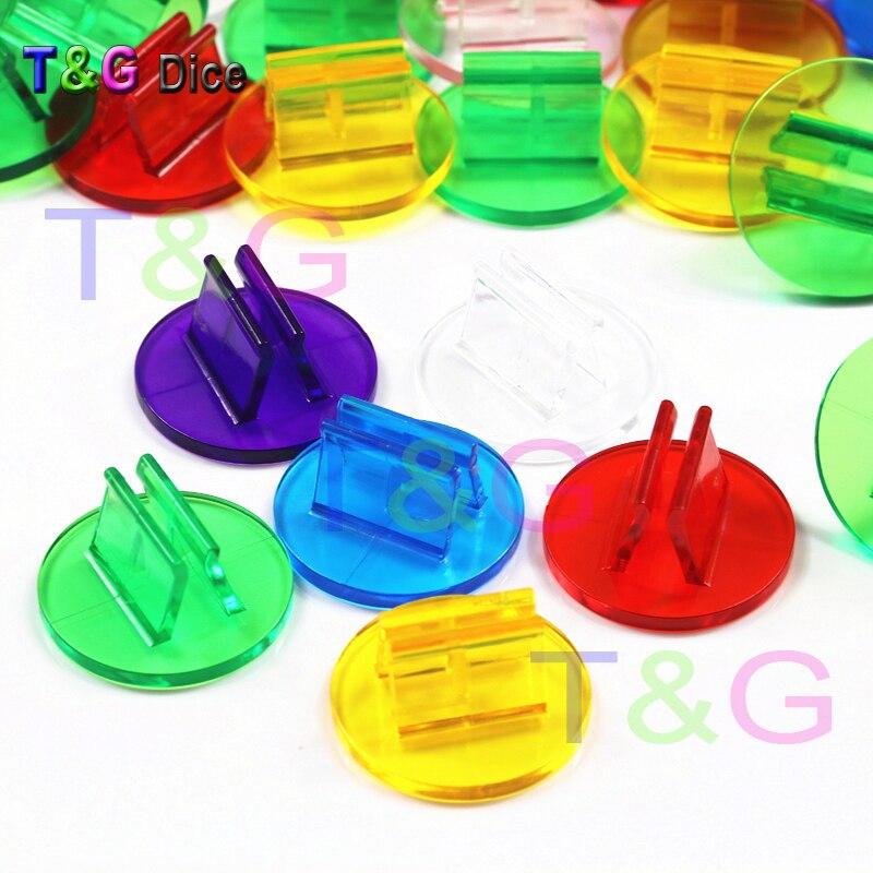Новая высококачественная 6 цветов прозрачная пластиковая подставка для 2 мм бумажных карт, компонентов настольной игры