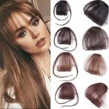 MISSQUEEN высокотемпературные синтетические волосы искусственные волосы челка 4 цвета Аккуратные передние челки заколки для волос Аккуратные