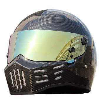 Casco De Moto De fibra De carbono ATV-8 personalizado Motocross Racing máscara completa F1 Capacete De Moto Cascos Motorrad