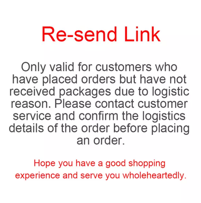 Replenishment link only valid for customers who have placed orders but have not received packages due to logistic reasons