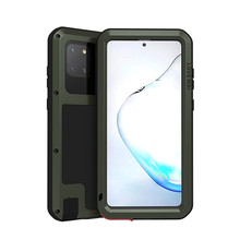For Samsung Galaxy Note 10 Lite Shockproof Case Powerful Metal Armor Shock Dirt Proof Water Resistant Cover for Note 10Lite