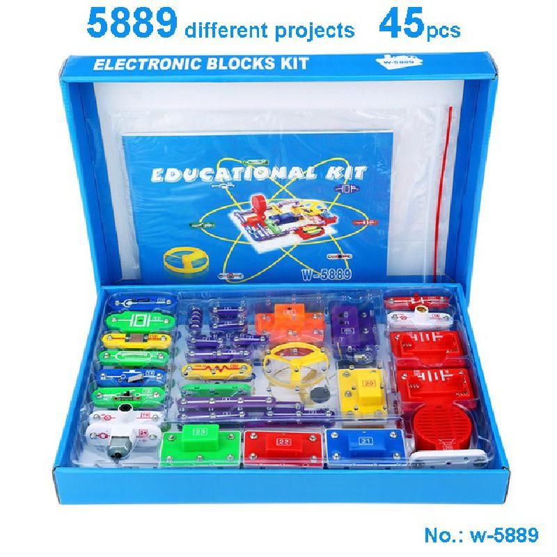 New Circuits Block Smart Electronic Kit Integrated Circuit Building Blocks Experiments Educational Science Kids Toys W5889