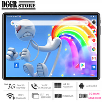 Global Version 10 inch tablet PC 3GB RAM 64GB ROM 1280*800 IPS Dual SIM Card GPS Wifi Octa Core Android 9.0 +64GB Card for Gift