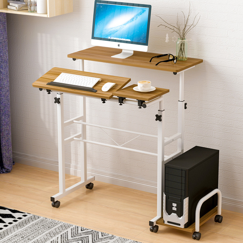 A Generation Of Fat-Standing Computer Table Simplicity Office Desk Desktop Home Simple Movable Height Adjustable Learning Table