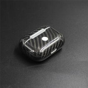 Image 4 - Carbon Fiber Oortelefoon Case Cover Voor Apple Airpods Pro Case 2019 Real Carbon Fiber Led Draadloze Koptelefoon Opladen Box Harde case