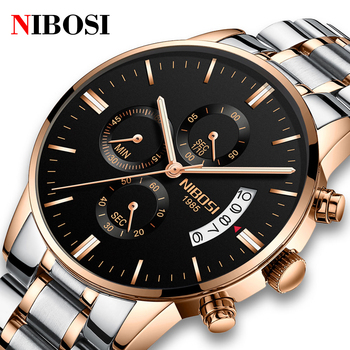 NIBOSI Luxury Men's Watches Fashion Sport Casual Dress Watch Quartz Wristwatches Famous Top Brand Relogio Masculino image