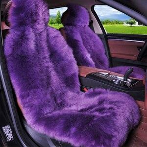 Image 5 - Winter 100% Natural Long Wool Car Seat Cover Mat Warm Australian Sheepskin Fur Auto Seat Cushion Plush Universal Size  1 piece