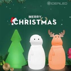 Linda lámpara de noche LED 3D RGBW muñeco de nieve/Reno/árbol de Navidad USB colorida luz de la noche de Navidad como regalo para la familia