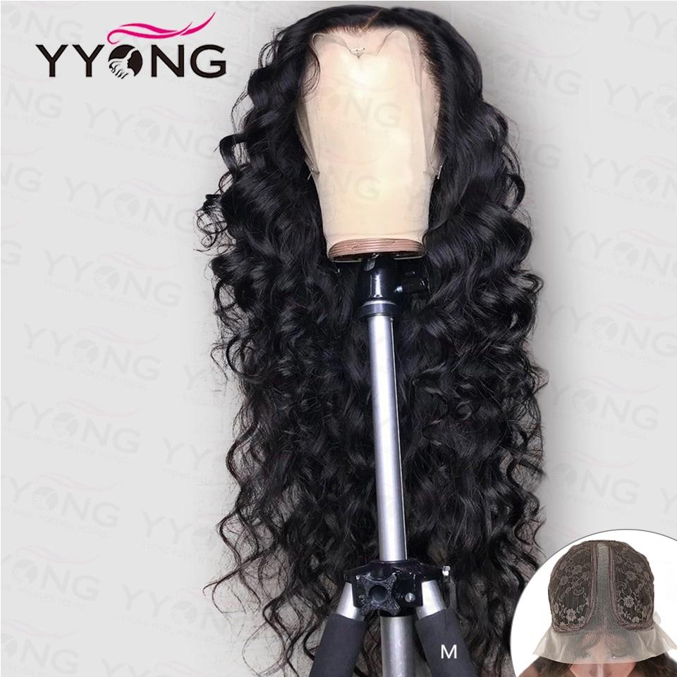 """YYong 1x6 Topline Lace Loose Deep HD Transparent Lace Part  Wigs    Wig 6"""" Deep Part Lace Wigs 1"""