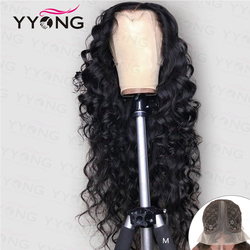 YYong 1x6 Topline Lace Loose Deep HD Transparent Lace Front Human Hair Wigs Remy Malaysian Human Hair Wig 6