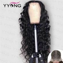 YYong 1x6 Topline dentelle lâche profonde HD Transparent dentelle partie perruques de cheveux humains Remy malaisien cheveux humains perruque 6