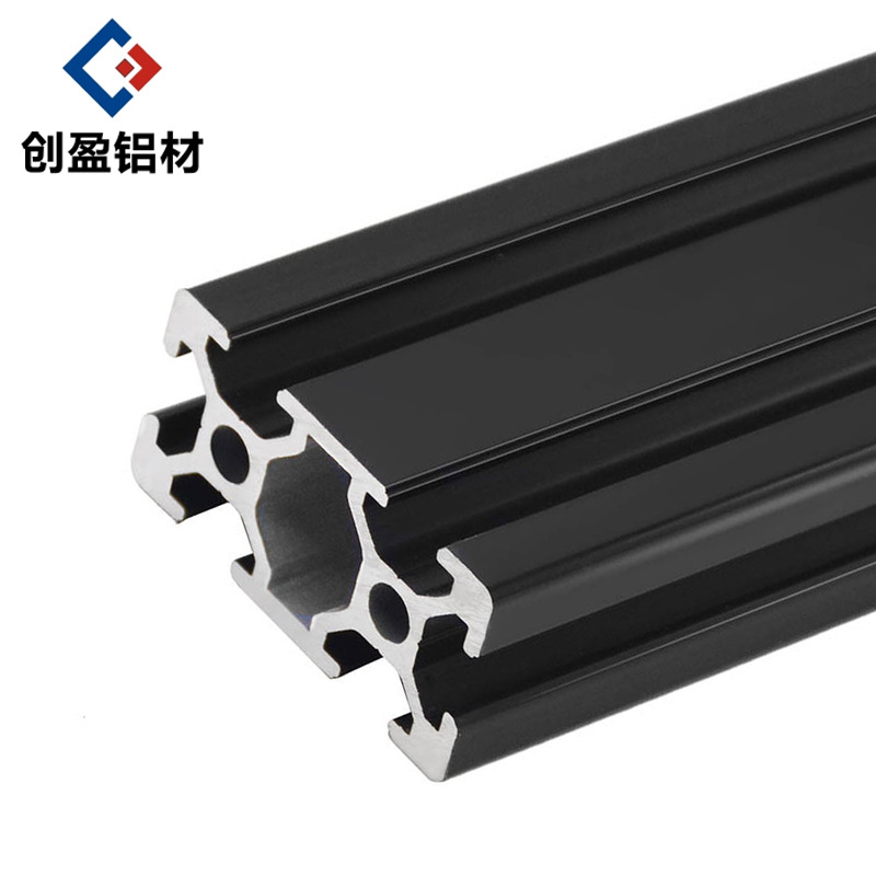 1 pc black <font><b>2040</b></font> European standard anodized aluminum <font><b>extrusion</b></font> profile 100-800mm linear rail length for 3D CNC printer image