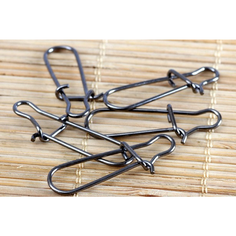 Fishing Connector 0/3/4/5/6/50pcs Tainless Steel Hook Fast Clip Lock Snap Swivel Solid Rings Safety Snaps Fishing Hook Connector
