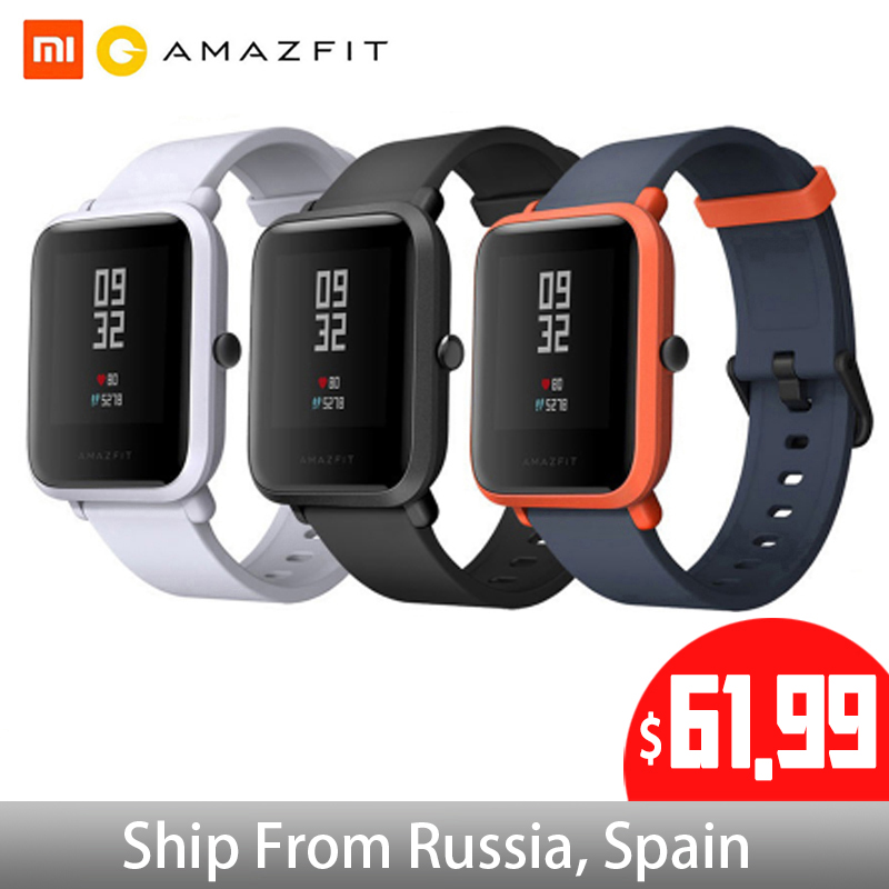 Global Version Huami Amazfit Bip Smart Watch GPS Gloness Smartwatch Smart watch Watchs 45 Days Standby for Phone MI8 IOS-in Smart Watches from Consumer Electronics    1