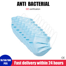 10 PCS 3 Layer Anti Dust Mask Respirator Face Mouth Anti Mask Fast Delivery Face Protection