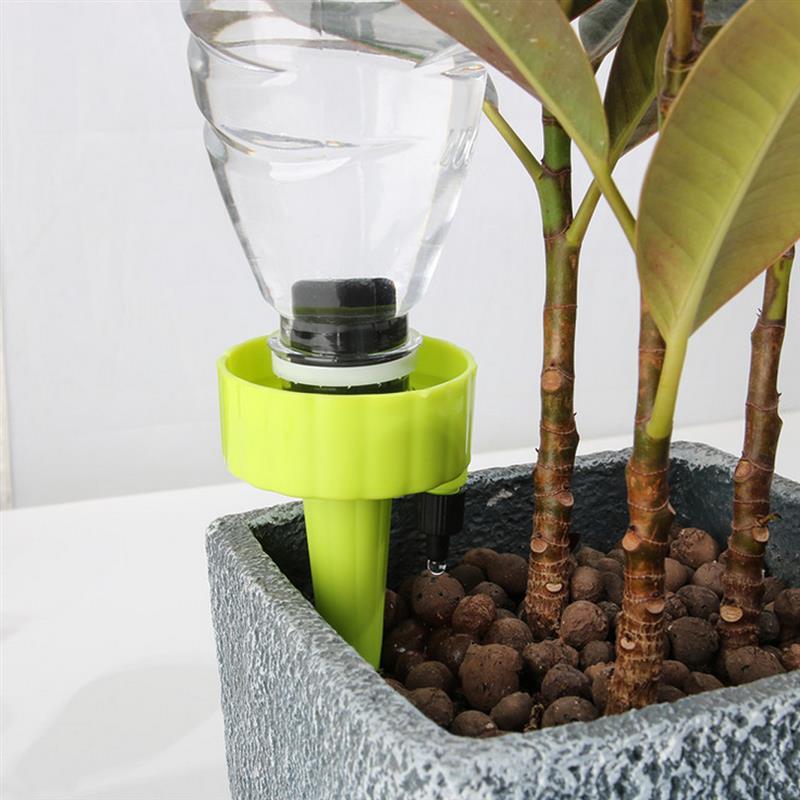 6 stücke Anlage Waterer Selbst Bewässerung Konische Kunststoff Selbst Bewässerung Werkzeug Tropf Bewässerung Pflanzer Hause Automatische Bewässerung Gerät