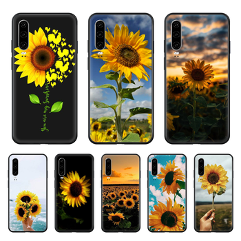 Flower Sunflower Beautiful Phone case For Huawei P 30 10 20 40 Lite Smart Z Pro 2019 black back trend funda 3D Etui painting image