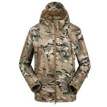 Hiking Jackets Shark Skin Soft Shell Military Tactical outdoor Jacket Men Waterproof Army Fleece Clothing Camouflage Windbreaker