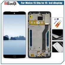 ل الأصلي MEIZU M15 LCD شاشة عرض محول الأرقام بشاشة تعمل بلمس ل Meizu 15 لايت M871H شاشة الكريستال السائل الشاشة