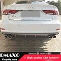 Для Audi A3 S3 обвес спойлер 2014-2016 для Audi A3 RS3 ABS задний спойлер передний бампер диффузор защитные бамперы