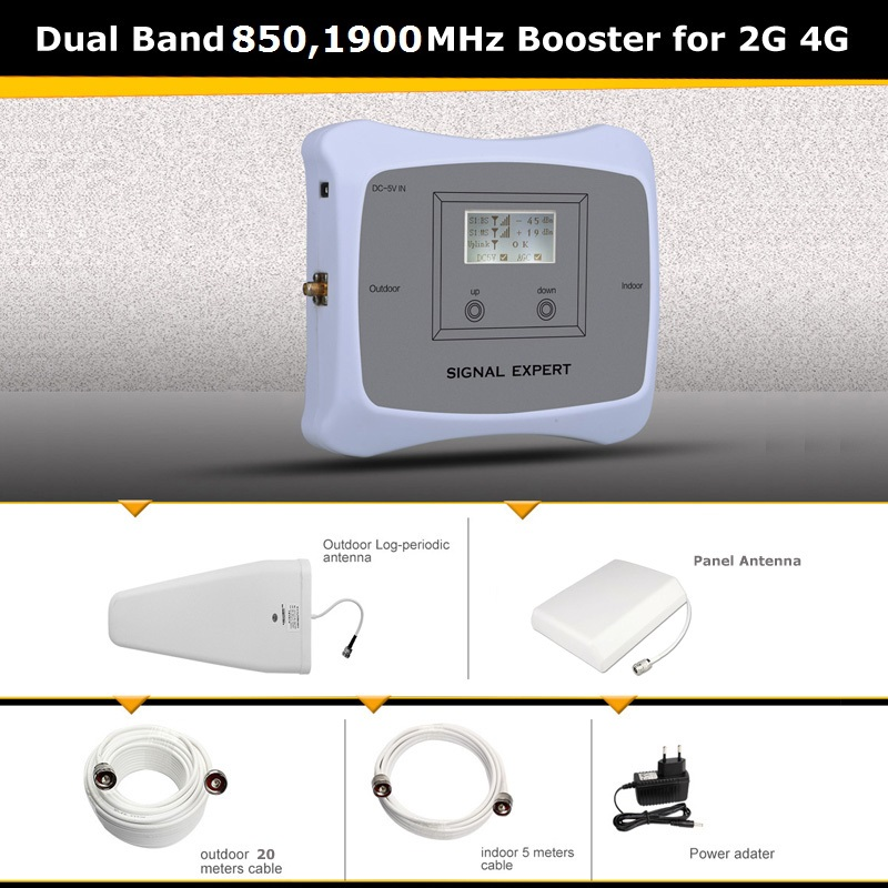 Classic 850 1900mhz 2g 4g Signal Booster Repeater Device Zoom In Signal Mobile Phone