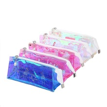 High-capacity cool laser transparent sequin pencil case color stationery